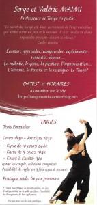 Tango Verso flyers
