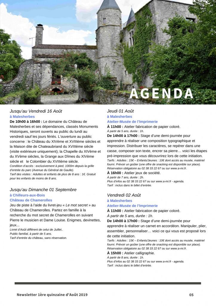Newsletter Août 1-5