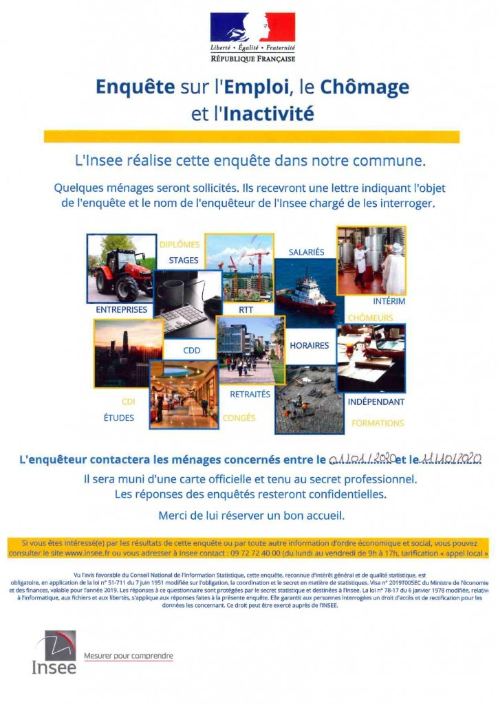 ENQUETE INSEE AFFICHE