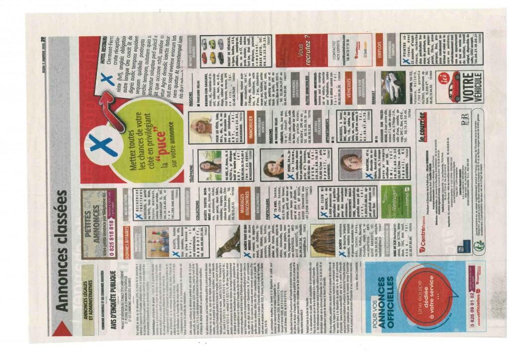 annonces officielles le courier du Loiret