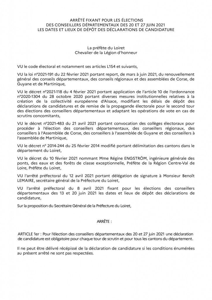 Arrêté_dépot_candidature_départementales 2021 RAA_00001