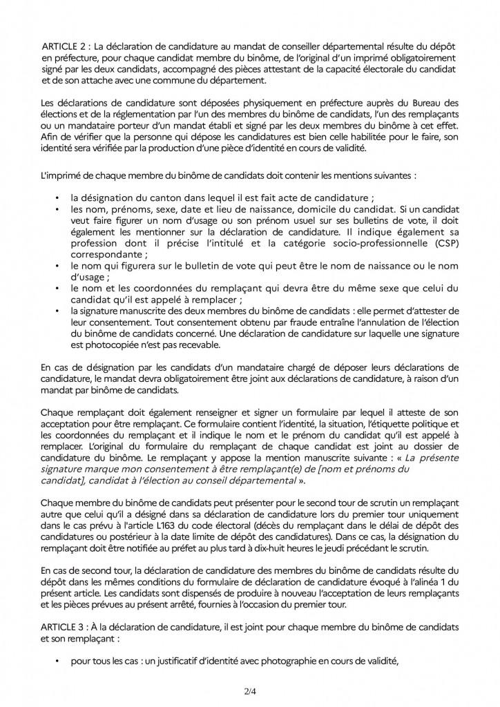 Arrêté_dépot_candidature_départementales 2021 RAA_00002