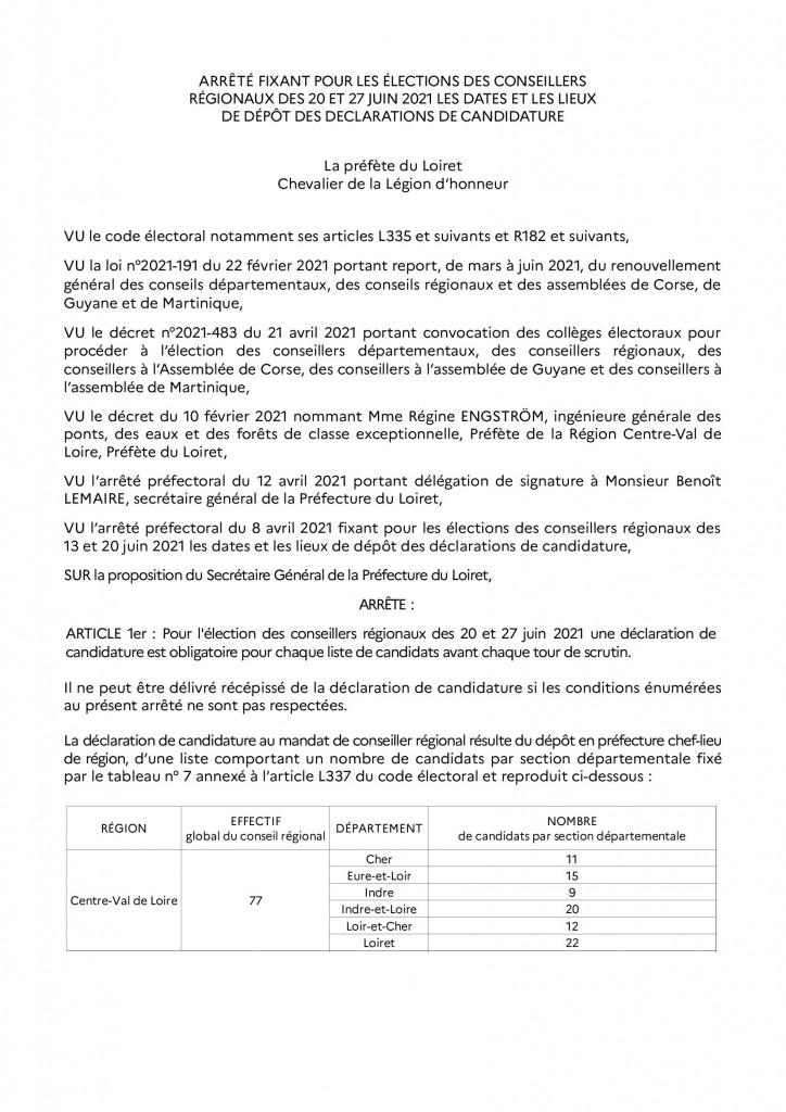 arrêté_dépot_candidature_régionales 2021 RAA_00001