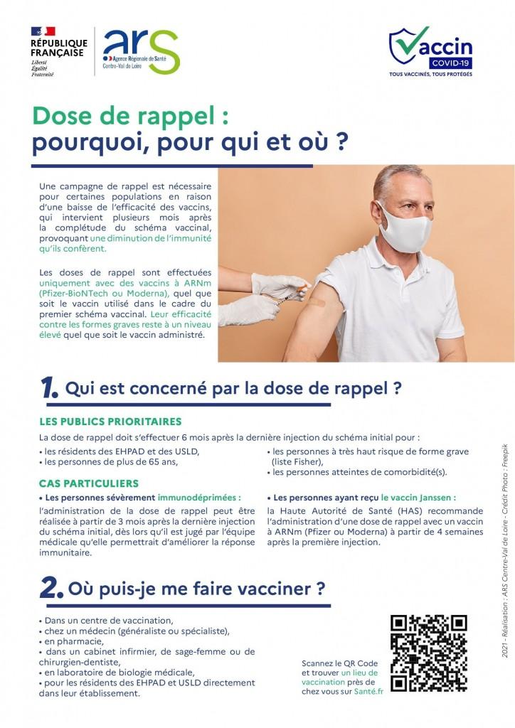 Information dose de rappel - Covid-19-1