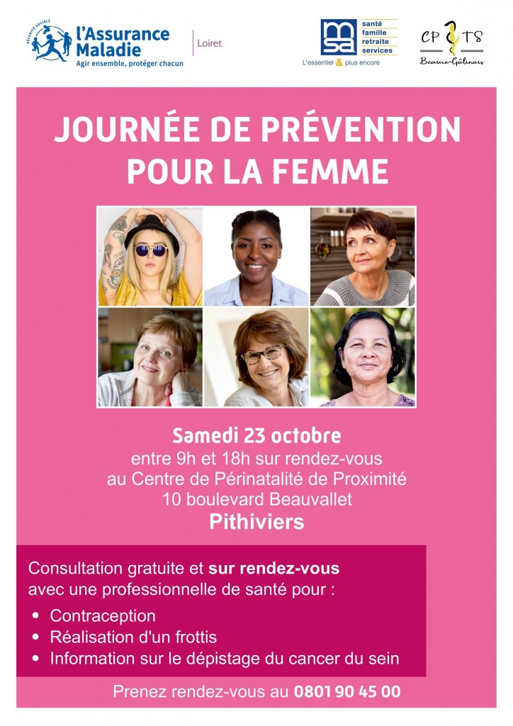 Affiche journée de la femme Pithiviers